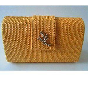 Crabtree & Evelyn Basket Weave Clutch Bag NEW